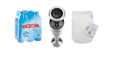 Para hacer tu bebida vegetal necesitas agua, una bolsa y una batidora